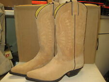 Nogales  Western Boot Mens Natural Calf Suede Size 7.5 D NEW