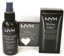 NYX Matte Skin Pack x 3 SHINE KILLER PRIMER & BLOTTING PAPER & SETTING SPRAY