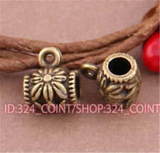 P058 20pcs Antique Bronze Charms Pendant Hanger Bails Necklace Connector