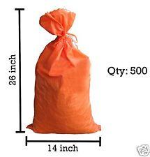 Sandbaggy 500 Orange Empty Sandbags For Sale 14x26 Sandbag Sand Bags Bag Poly