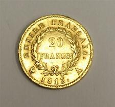 1813A France 20 Francs Gold Napoleon almost uncirculated AU50 & Authentic