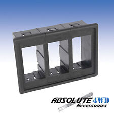 *Triple Switch Holder* 3x Housing gang rocker Carling ARB universal panel