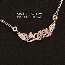 Charm Angel Wings Choker Necklace For Women And Girl 18K Rose Gold Plated Xl506
