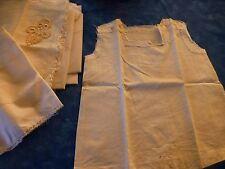 vintage ,pour couturiére ,chemisette bébé,poupée a terminer +tissus blancs