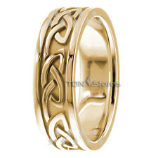 18K SOLID GOLD CELTIC WEDDING BANDS CELTIC WEDDING RING WOMENS MENS IRISH RINGS