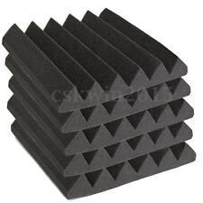 30X30X5CM Studio Acoustic Foam Sound Absorption Treatment Panel Tile Wedge Black
