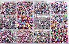 120pcs En Gros Lot Mix 12Styles Langue lèvre sourcils nez piercing Argent tragus