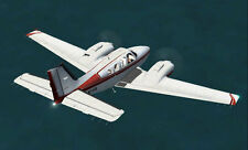 "Scale Beechcraft Barron Twin  70"" Giant Scale RC Model AIrplane Printed Plans"
