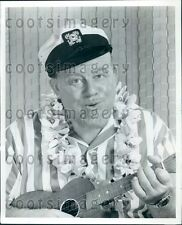 Singer Actor Burl Ives With Ukulele Press Photo