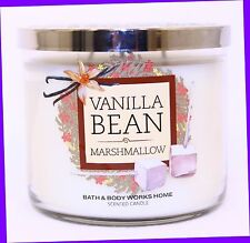 1 Bath & Body Works VANILLA BEAN MARSHMALLOW 3-Wick Large Candle 14.5 oz
