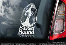 Basset Hound - Dog Car Window Sticker - Dog Sign, Bassethound Hush Puppy - TYP2