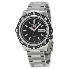 Seiko Automatic Black Dial Stainless Steel Mens Watch SRP139