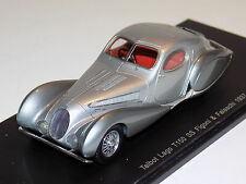 1/43 Spark Street 1937 Talbot Lago T150 Figoni and Falaschi in Silver S2714