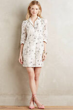 NWT Anthropologie Varun Bahl Agueda Black Floral Shirt Dress sz. XL
