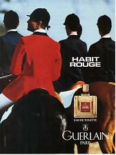 ▬► PUBLICITE ADVERTISING AD Parfum Perfume Habit Rouge GUERLAIN Walter Thompson