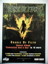 "PUBLICITE-ADVERTISING :  CRADLE OF FILTH  2003 pour la sortie de ""Damnation And"