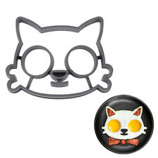 Funny Novelty Cat Face Fried Egg Mould Breakfast Pancake Ring Silicone Mold Gift