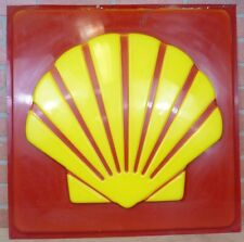 Original SHELL Gas Station Repair Shop Advertising Sign high relief gas oil auto