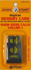 JOHNNY STEWART SNOW GEESE CALLS VOLUME 1 PREYMASTER MEMORY CARD PM-3 & PM-4 NEW