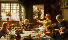 One of the Family Frederick George Cotman Pferde Mahl Esstisch Kinder B A3 01949