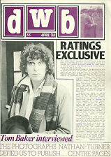 RARE Magazine - DOCTOR WHO Bulletin -  DWB #53 - 1988 - Tom Baker