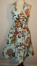 NEW WITH TAG TED BAKER LONDON FLORAL HALTER dress size 0