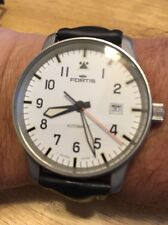 Fortis Flieger 40mm Automatic Pilot's Watch - White Dial - 595.10.46