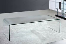 Glass Waterfall Style Large Coffee Table
