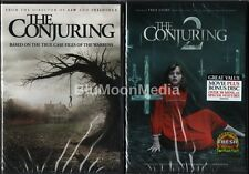 The Conjuring 1 & 2 DVD Lot Vera Farmiga Patrick Wilson 2 Movie set Brand NEW