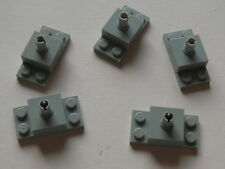 Lego 5 briques avec pin gris clair 7317 4404 / 5 old light gray brick w/ top pin