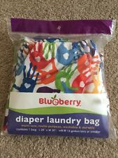 RARE HTF NWT Blueberry Swaddlebees Simplex Cloth Diaper Pail Liner - MESSY HANDS
