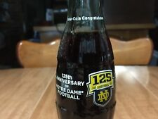 Notre Dame Football 125th Anniversary (1887-2012) Coca-Cola Coke Bottle Gift