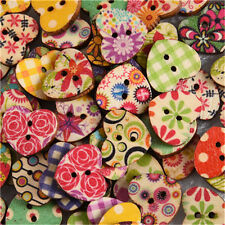 100Pcs Wooden 2 Holes Round Wood Sewing Buttons DIY Craft Scrapbooking 17mm