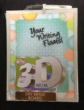 The Board Dudes 3D Dry Erase Board Silver Frame 8 1/2 x 11