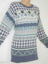 LAURA ASHLEY VINTAGE COUNTRY LIFESTYLE FAIR ISLE COTTON JUMPER, SMALL