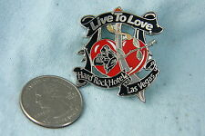 HARD ROCK HOTEL PIN LAS VEGAS LIVE TO LOVE HEART/ SWORD THROUGH HEART