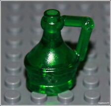 Lego Castle x1 Trans Green Flask City Pirates Wine Bottle Jug Minifigure NEW