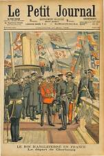 King of the United Kingdom ENGLAND Edward VII  CHERBOURG MARINE NATIONALE 1903