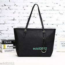 Women's New Fashion OL Ladies Black Tote Shoulder Messenger Handbag Hobo Bag