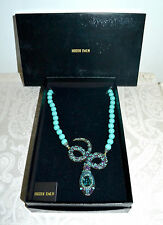 "NIB $240 HEIDI DAUS ""Mystical Serpent"" Turquoise Snake Necklace"