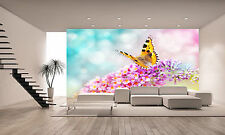 Butterfly on Flower  Wall Mural Photo Wallpaper GIANT WALL DECOR PAPER POSTER