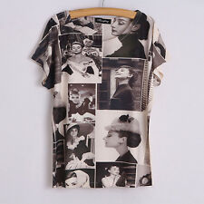 2015 Roman Audrey Hepburn Women Ladies T-Shirt Top One Size M Batwing Cap Xmas