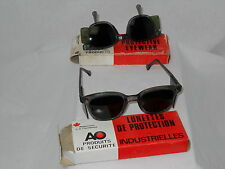 2X 1980 Funky Vintage Hipster AO Safety industrial protective eyewear glasses