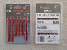 NEW ToolShop Jig Saw Blade Set 18 Pcs U-Shank for Metal/Wood 242-2705