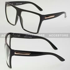 New Square Retro Vintage Clear Lens Nerd Glasses Mens Womens Fashion Black Gold