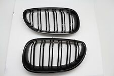 Gloss Black Dual Fin Front Grille Grill Hood Nose For BMW E60 E61 5 Series 03-09