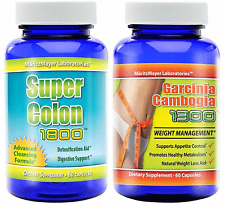 Garcinia Cambogia Extract 60% HCA & Super Colon Cleanse 1800 Weigh Fat Loss Diet