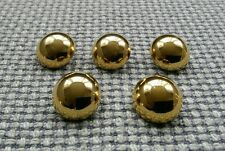 5 x Gold Tone Domed Metal Buttons 17mm Vintage Gothic Steampunk Style