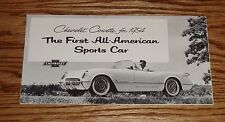 1954 Chevrolet Corvette Foldout Sales Brochure 54 Chevy