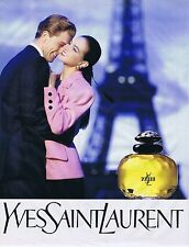 PUBLICITE ADVERTISING 045 1989 YVES SAINT LAURENT 'Paris' Parfum femme
